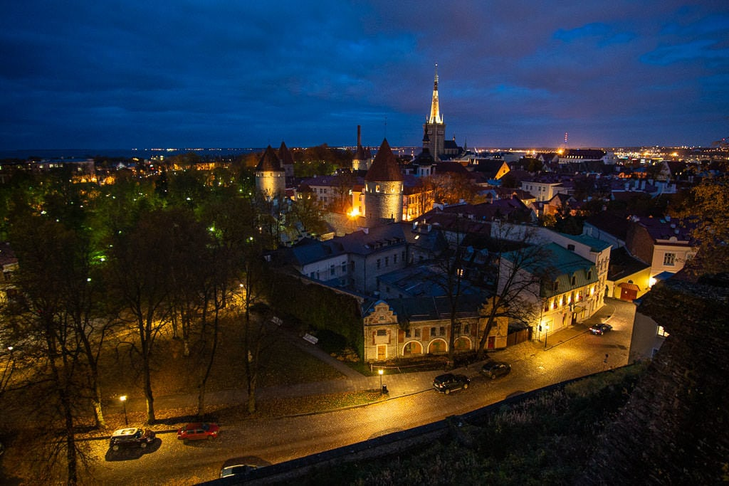 Night View from overlook in Tallinn