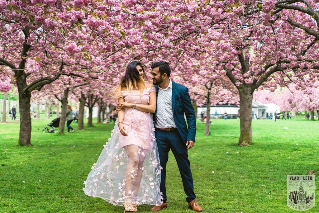 Photo 12 Cherry Blossom Marriage Proposal in Brooklyn Botanical Garden   VladLeto