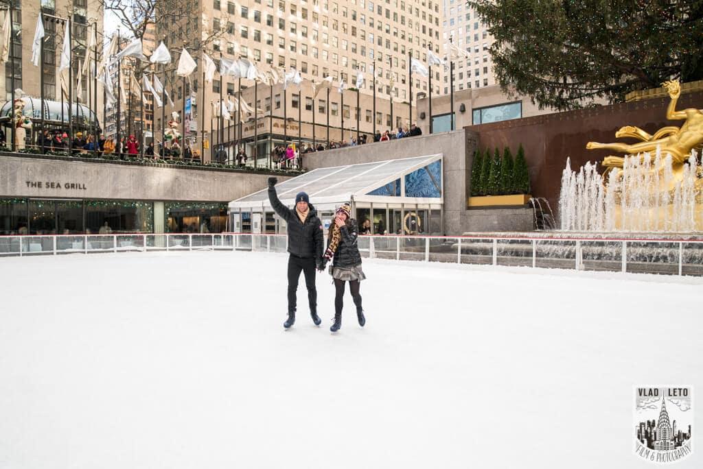 Photo 5 Ice Skating Marriage Proposal at The Rink at Rockefeller Center | VladLeto