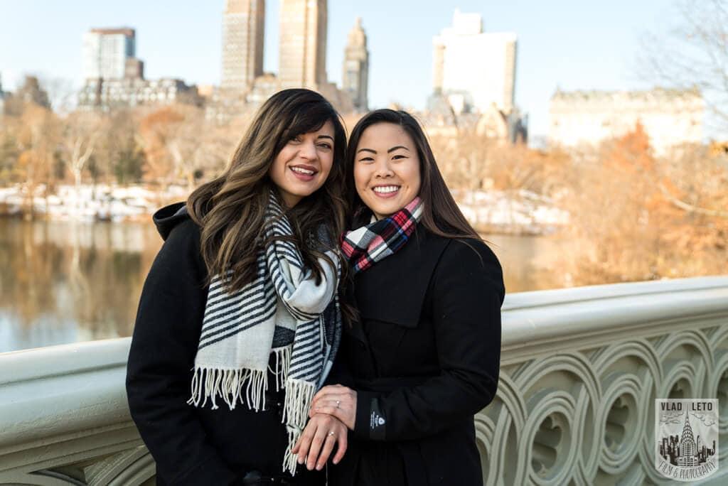 Photo 24 Same Sex proposal by Brooklyn Bridge + Engagement in Central Park | VladLeto