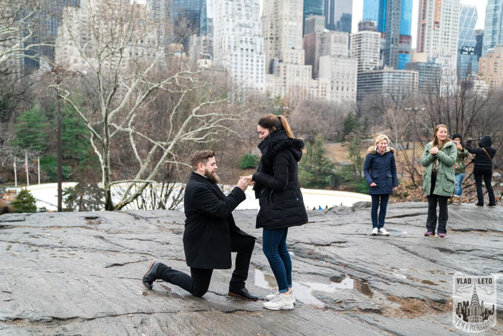 Photo Cats Rock Proposal in Central Park | VladLeto