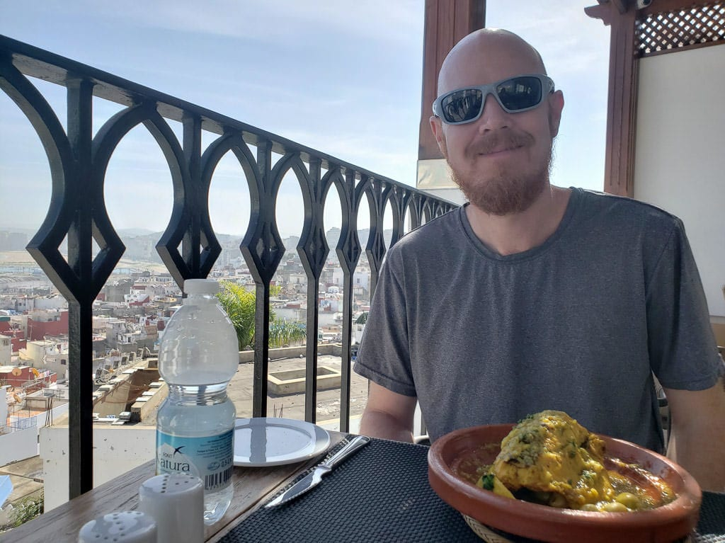 moroccan couscous meal at restaurant in tangier on day trip to Morocco tour
