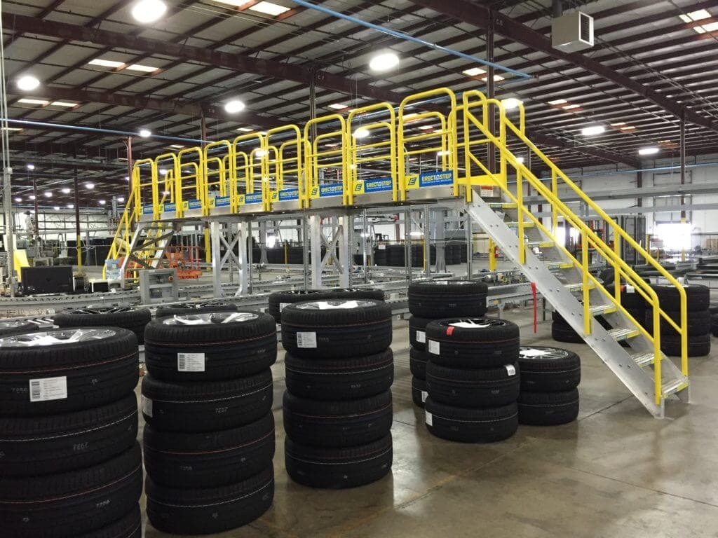 ErectaStep tire center crossover stairs
