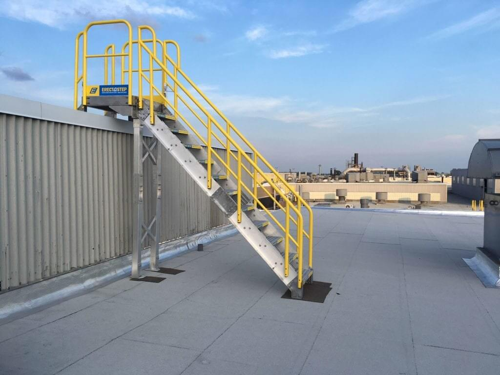 Campbell Soup Metal Stairs for Roof Access Side View