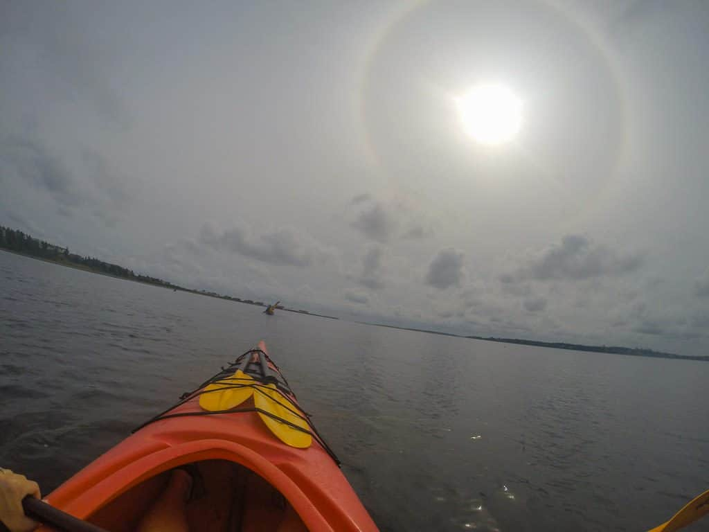 Looking out into the open water during our PEI kayaking trip