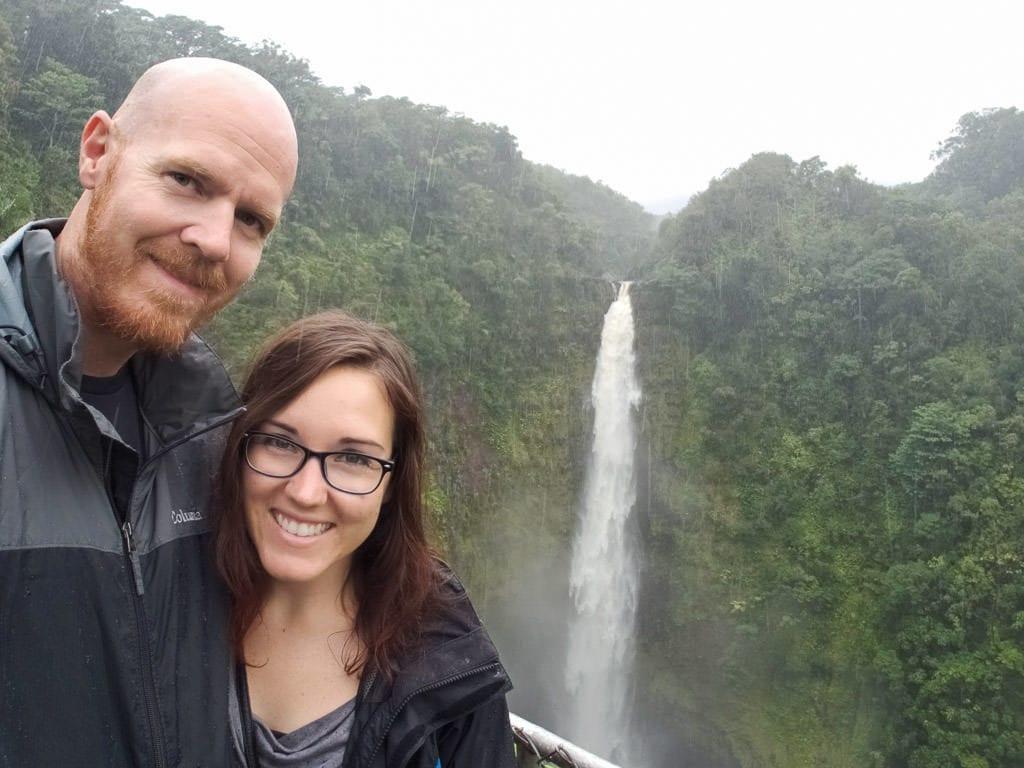 selfie in the rain at akaka falls near hilo