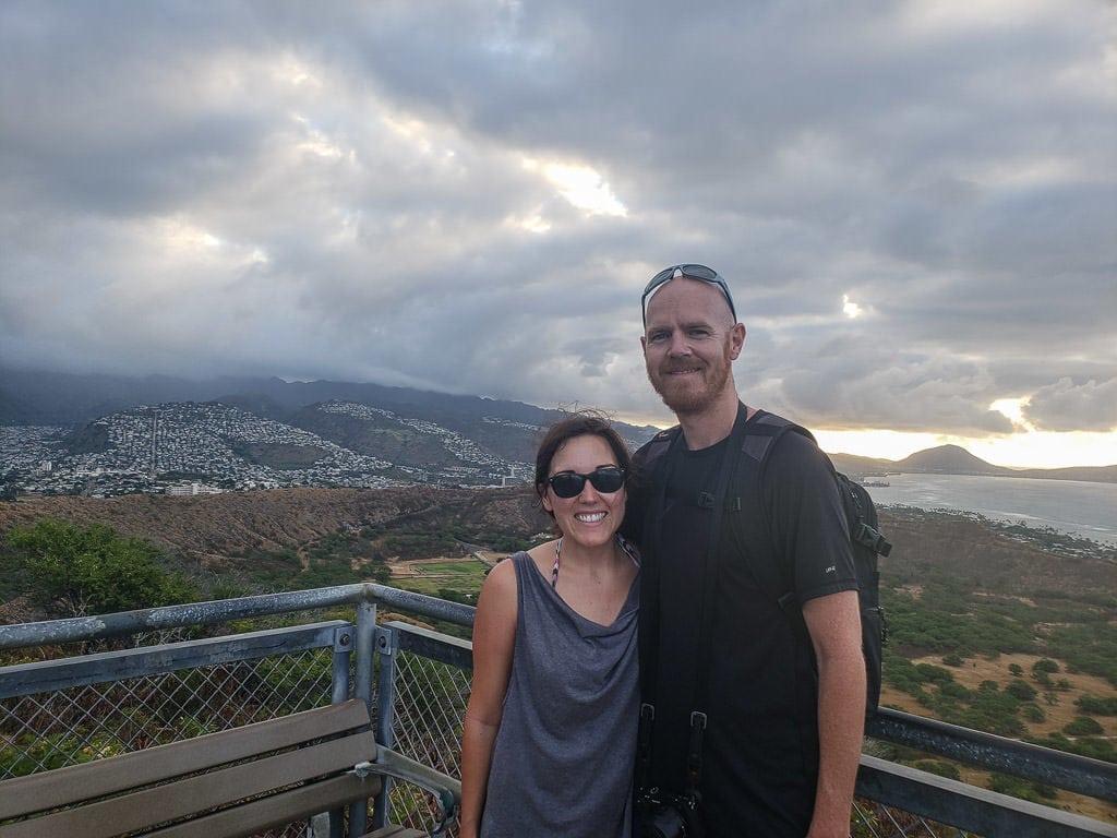 selfie at Diamond Head State Monument in oahu