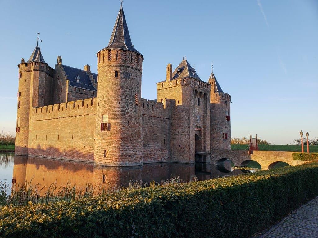 Muiderslot Castle and moat surrounding it