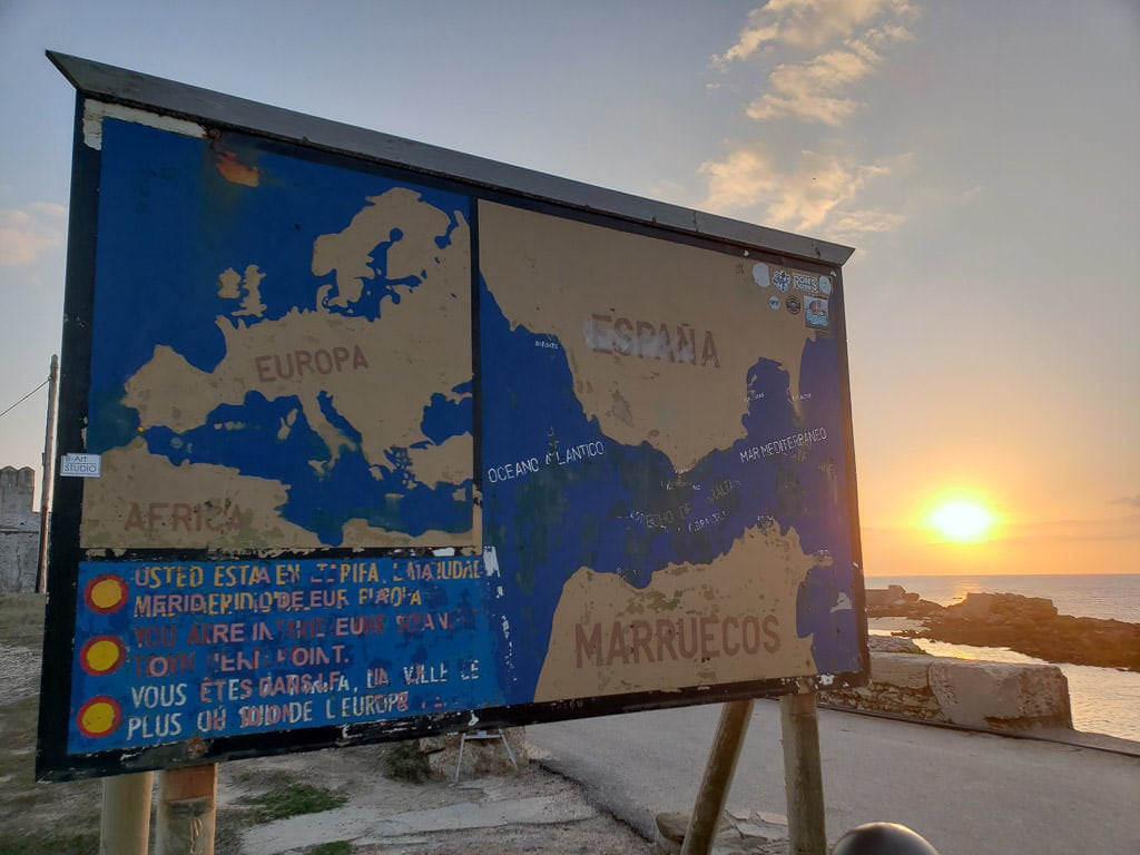 map of europe and africa in tarifa