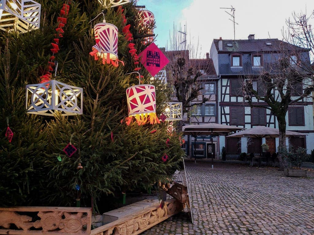 christmas tree in strasbourg france