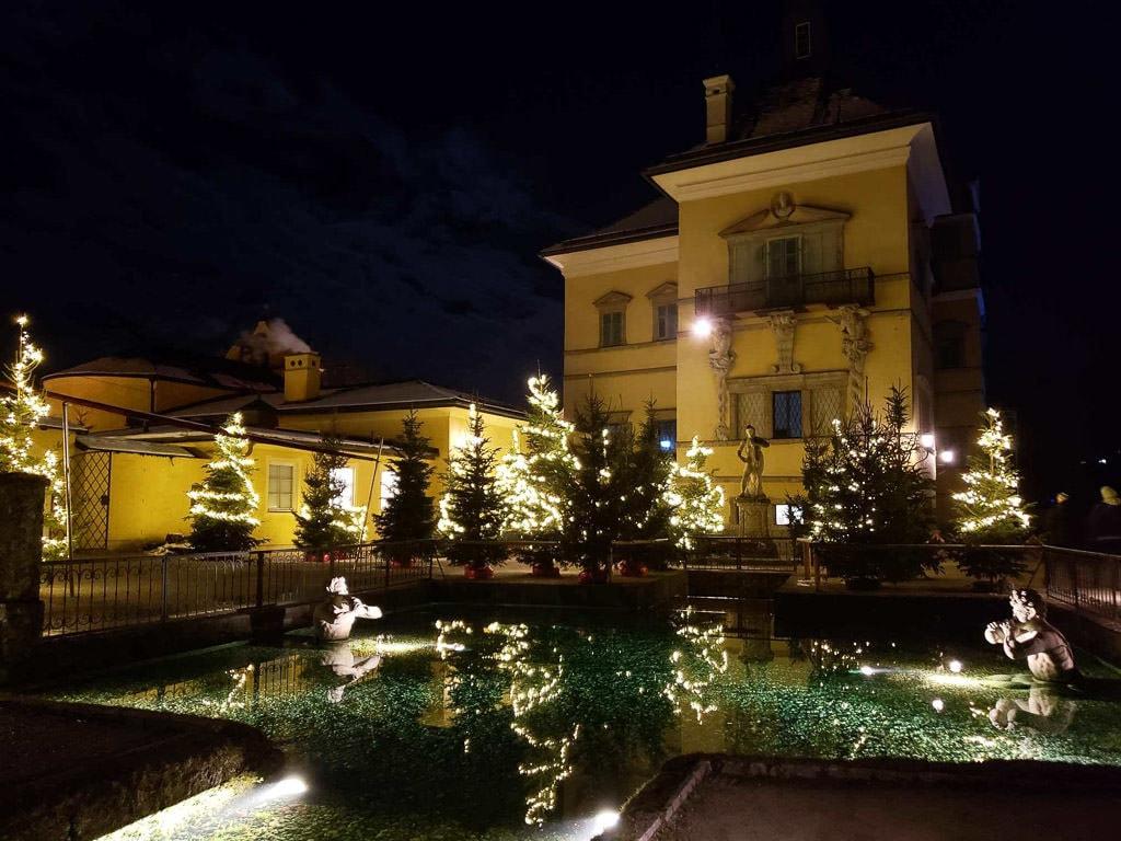 singing fountain at hellbrunn palace christmas market salzburg