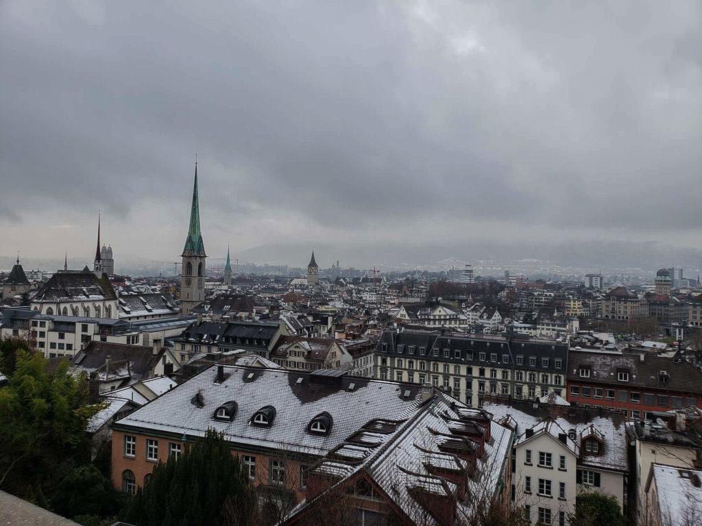 zurich views dusted in snow