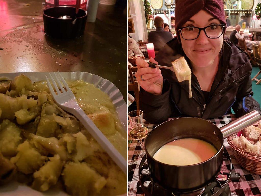 cheese tasting at zurich christmas market in switzerland