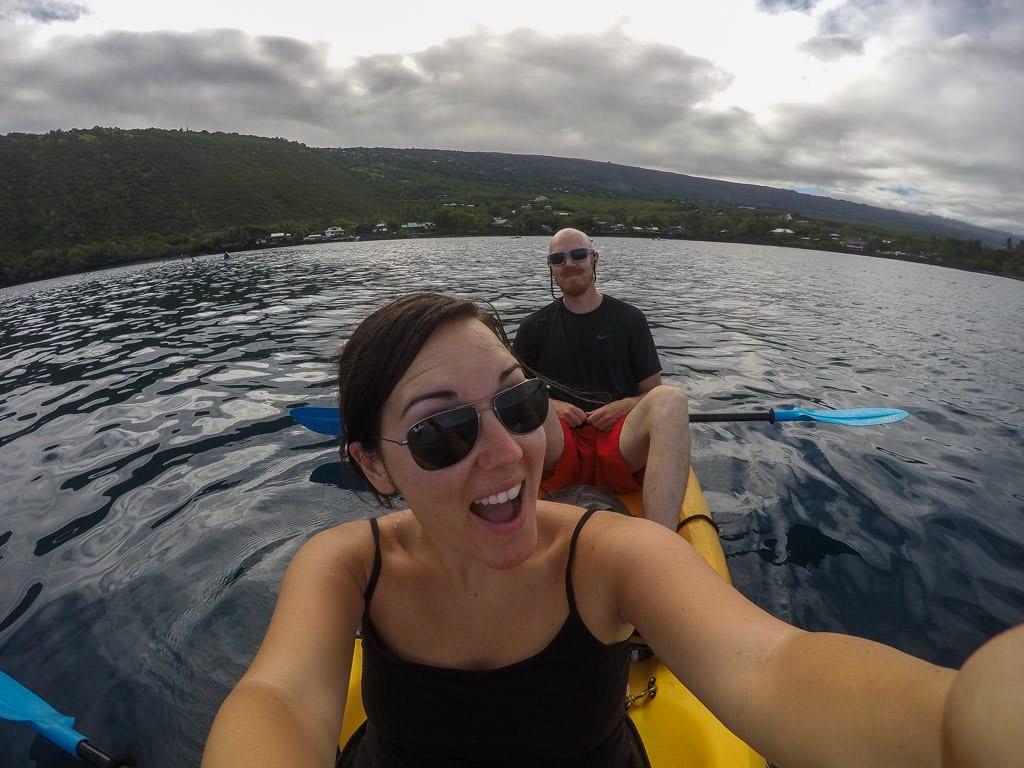 big island kayaking with wild dolphins and snorkeling near kona bayside adventures
