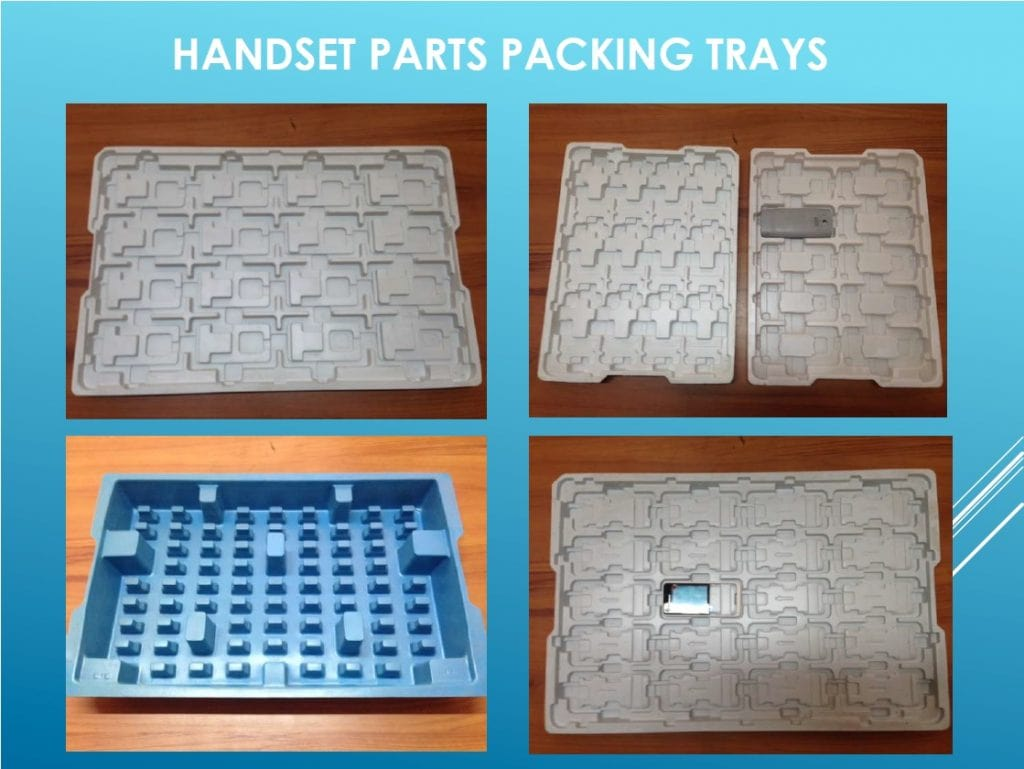 handset parts packing trays