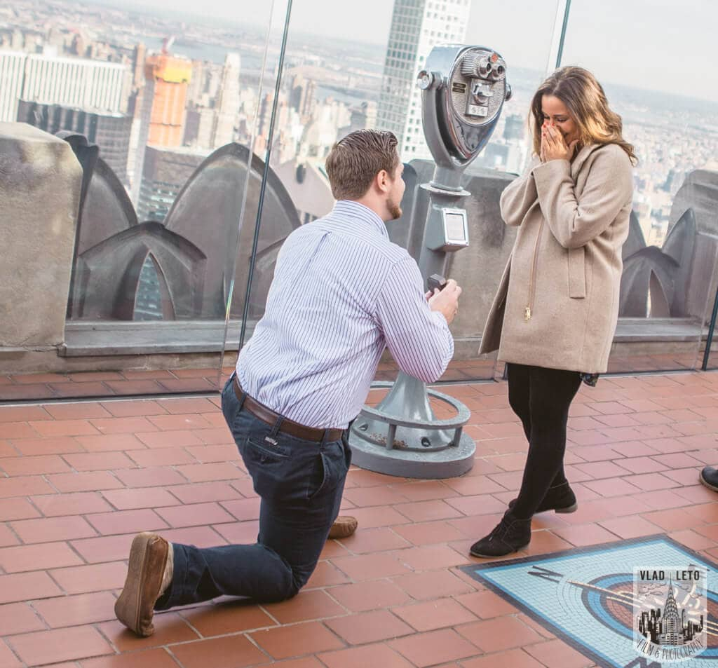 Photo 2 Top of the Rock Marriage Proposal 3   VladLeto