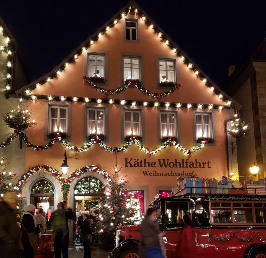 kathe wohlfahrt at christmas in rothenburg germany