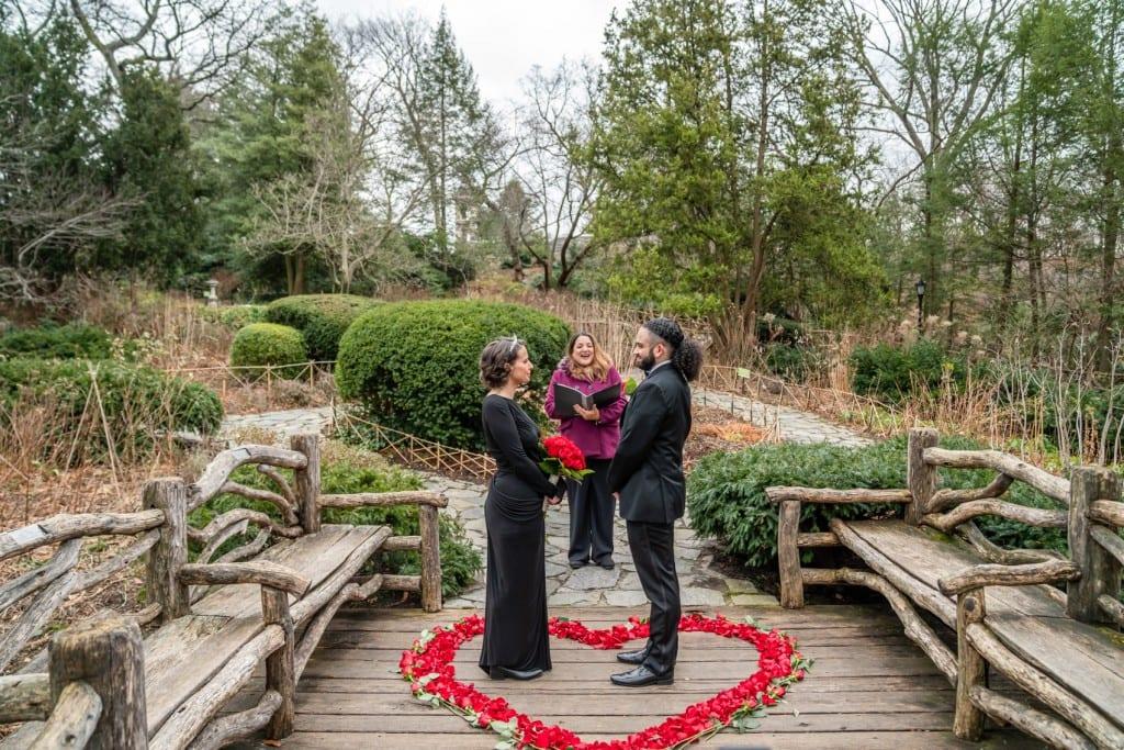 Photo 11 Nicolas and Neecha flower heart ceremony in Central Park.