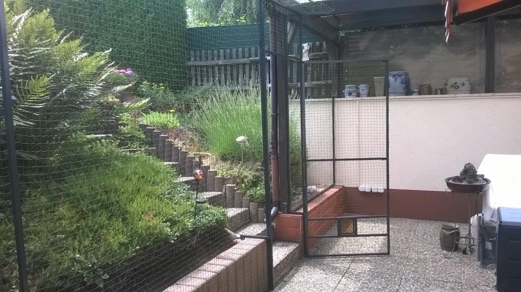Terrasse für Katze gesichert