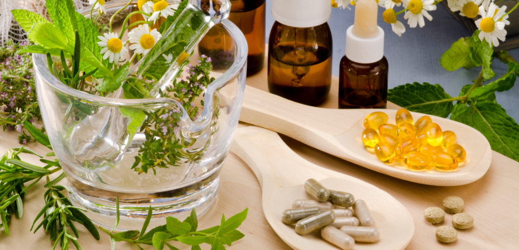 a herbalist recommends herbs after a herbal consultation
