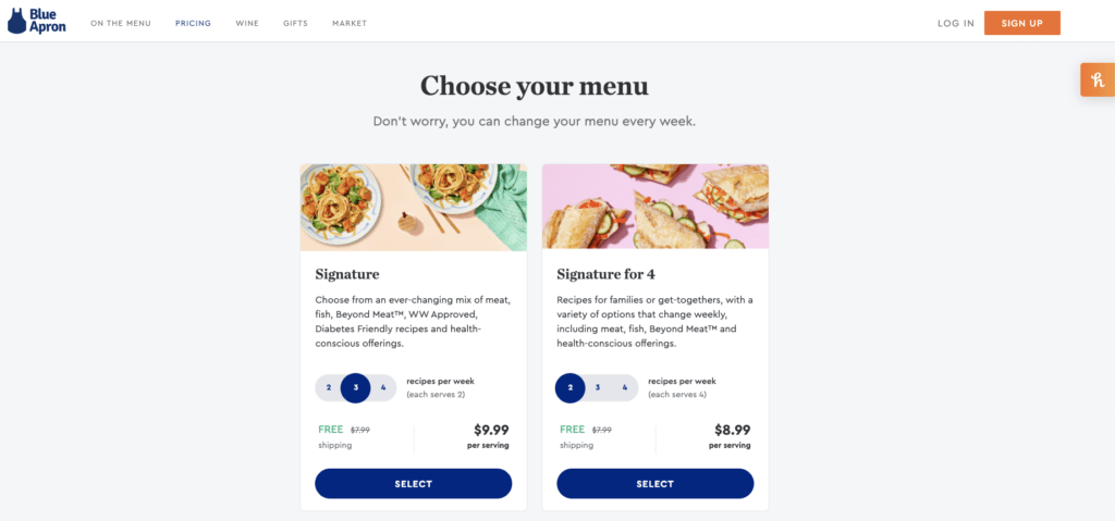 Blue Apron and Similar Services