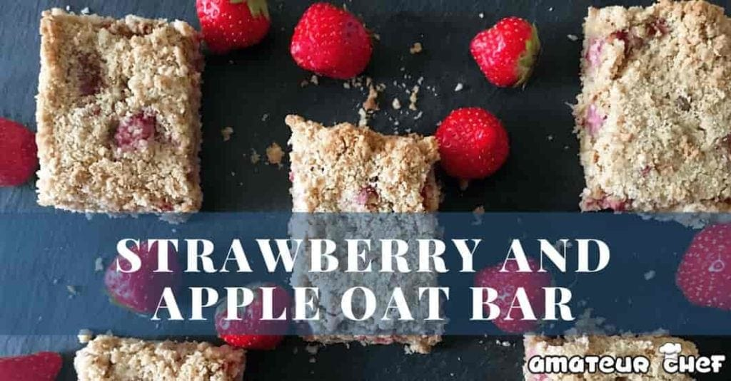 Strawberry and Apple Oat Bar Feature Image | AmateurChef.co.uk