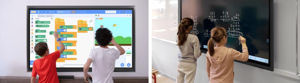 école numérique et socle numérique avec écran interactif