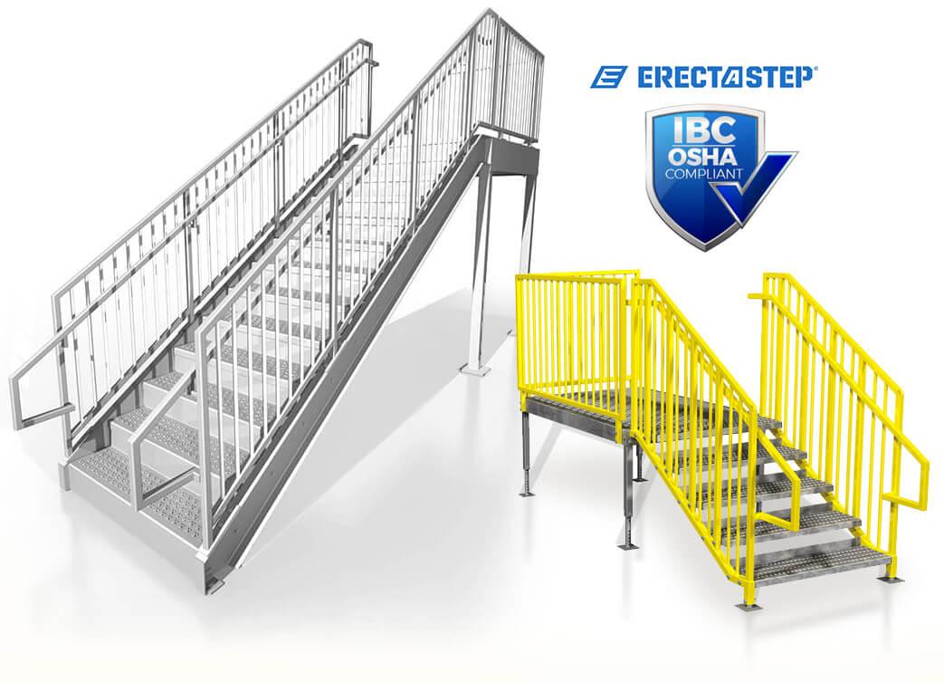 ErectaStep IBC Complaint Metal Stairs