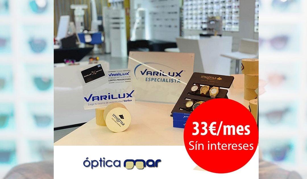 Financiamos tus lentes varilux desde 33€ y de regalo un reloj hecho a mano