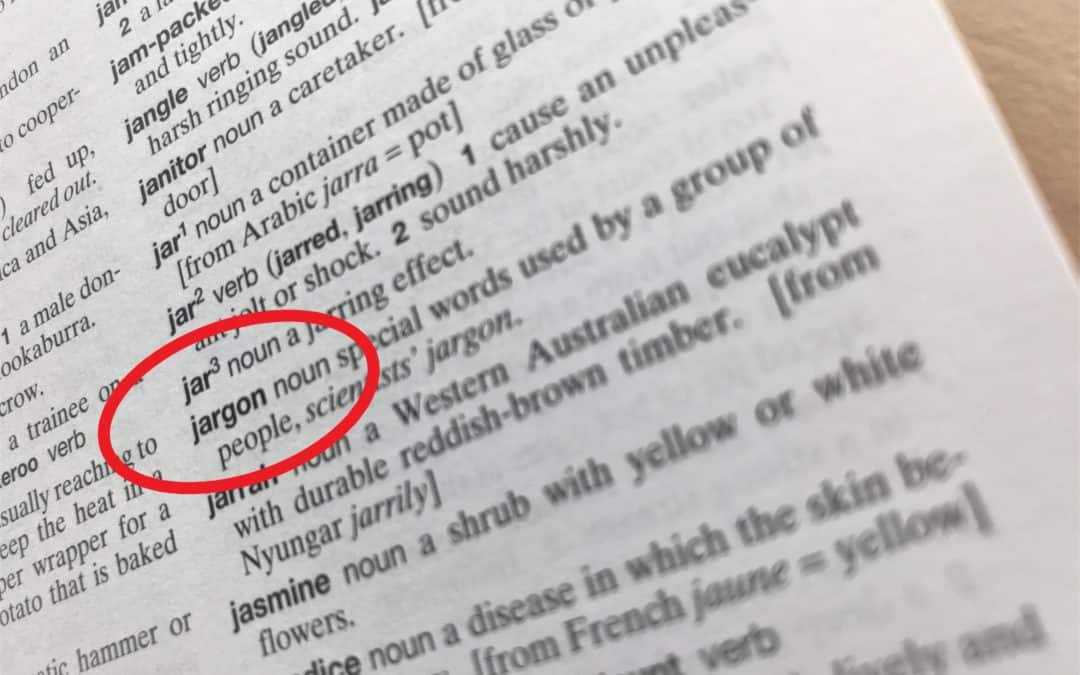 Dictionary definition of jargon, similar to legal jargon