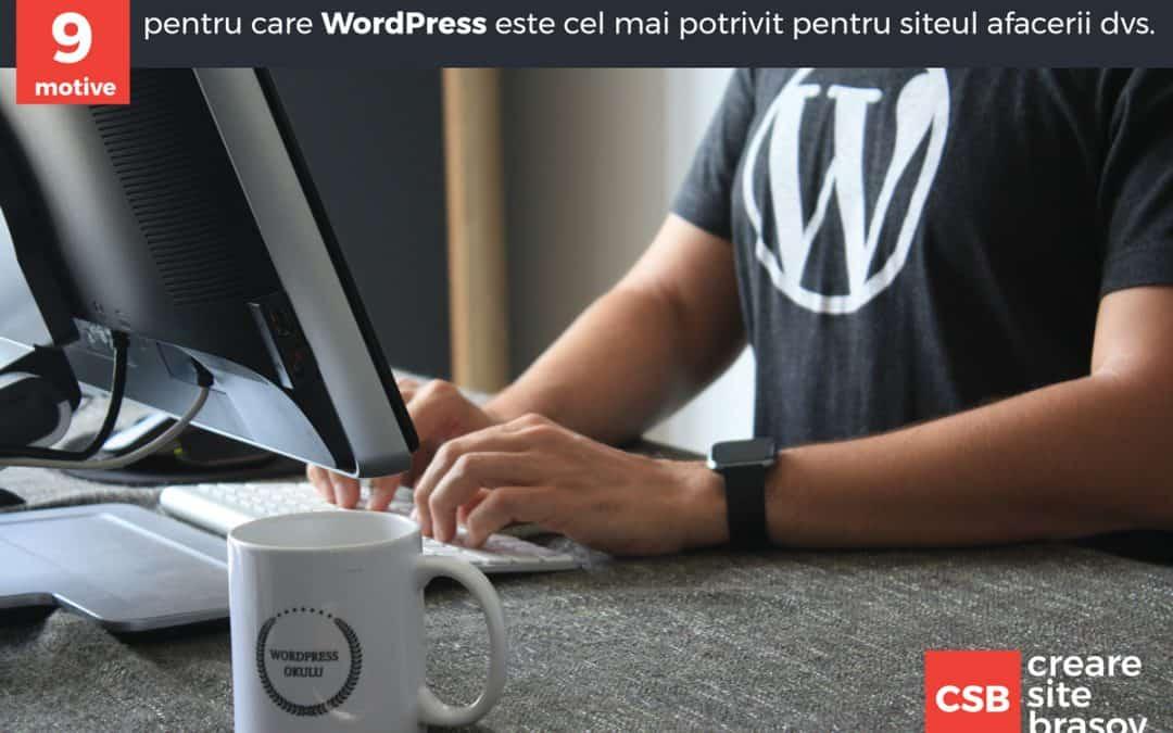 9 motive pentru care WordPress este cel mai potrivit pentru siteul afacerii dvs.