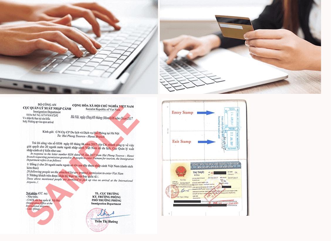 Fill visa application form