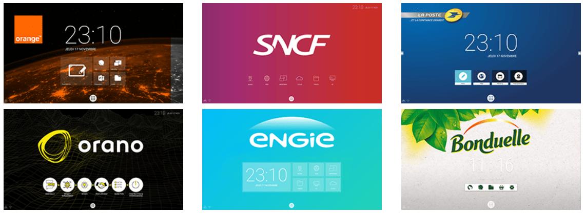 exemple d'écran interactif personnalisé
