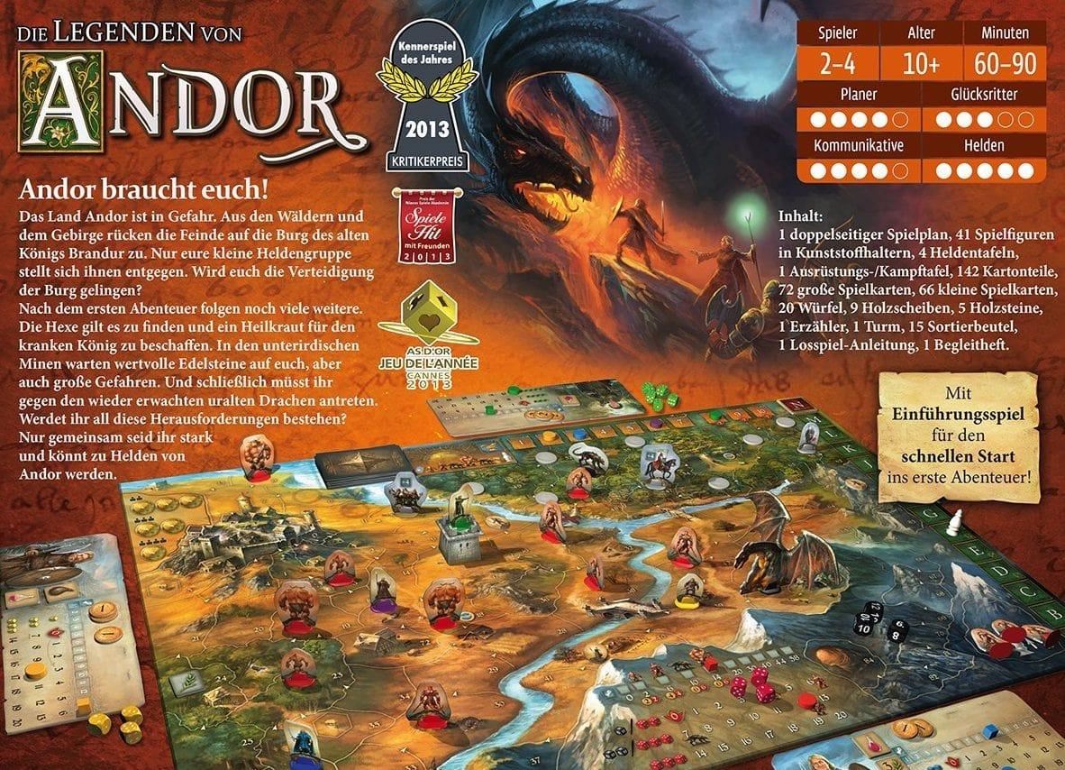 Die Legenden von Andor Brettspiel