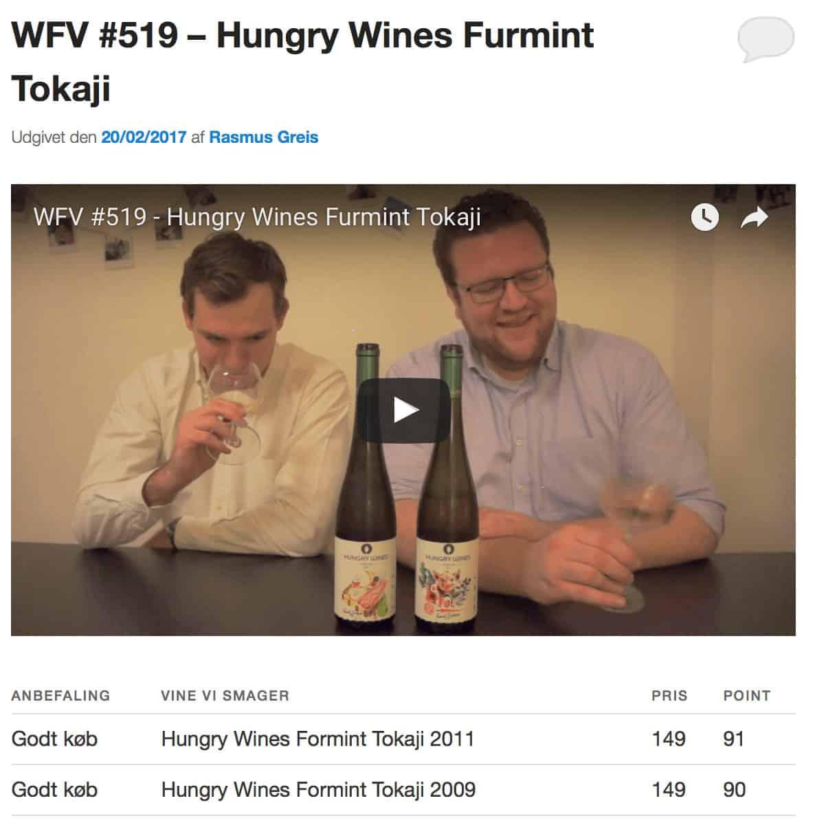 Splendid Danish video review of Furmint Barrique!