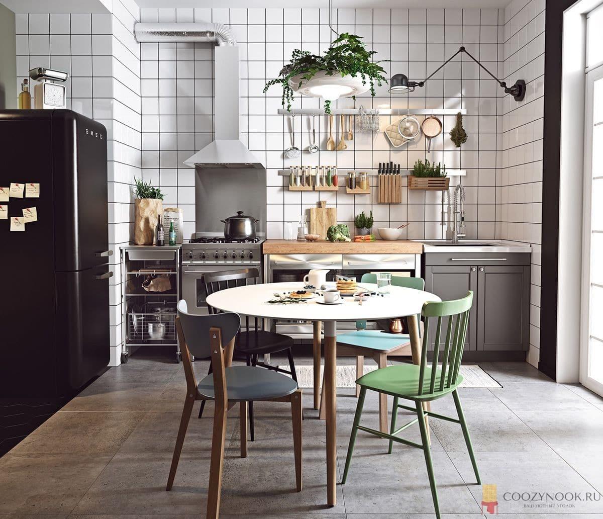 растения, цветы, кухня, фото, пример, в скандинавском стиле