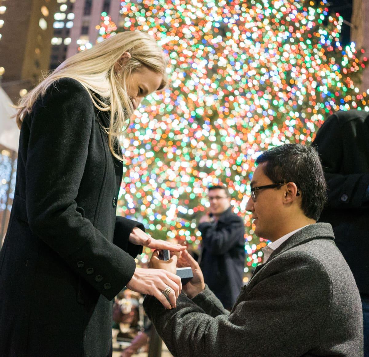 Photo 4 Christmas tree at Rockefeller Center secret proposal   VladLeto