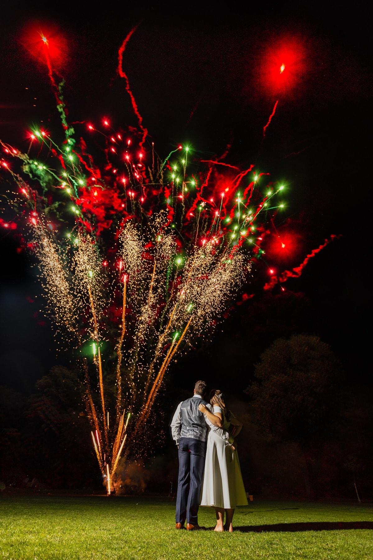 Wedding fireworks Cambridge