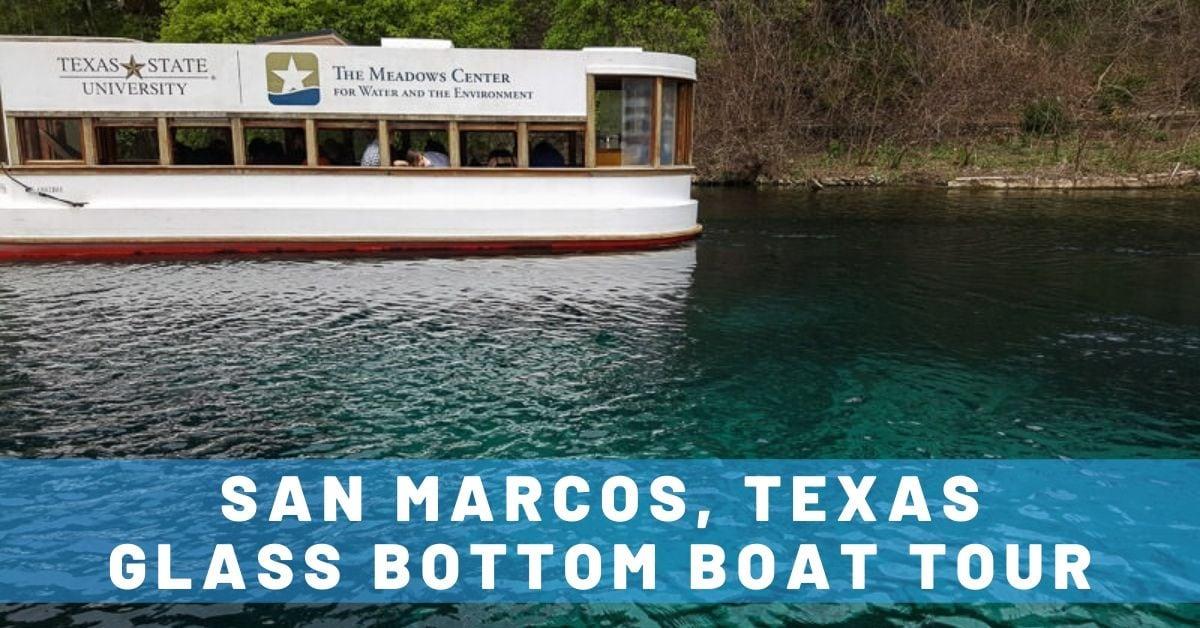 San Marcos Glass Bottom Boat Tour of Spring Lake