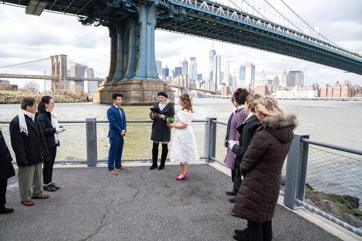 Photo 9 Cathy and Alan Dumbo Brooklyn Wedding in New York City