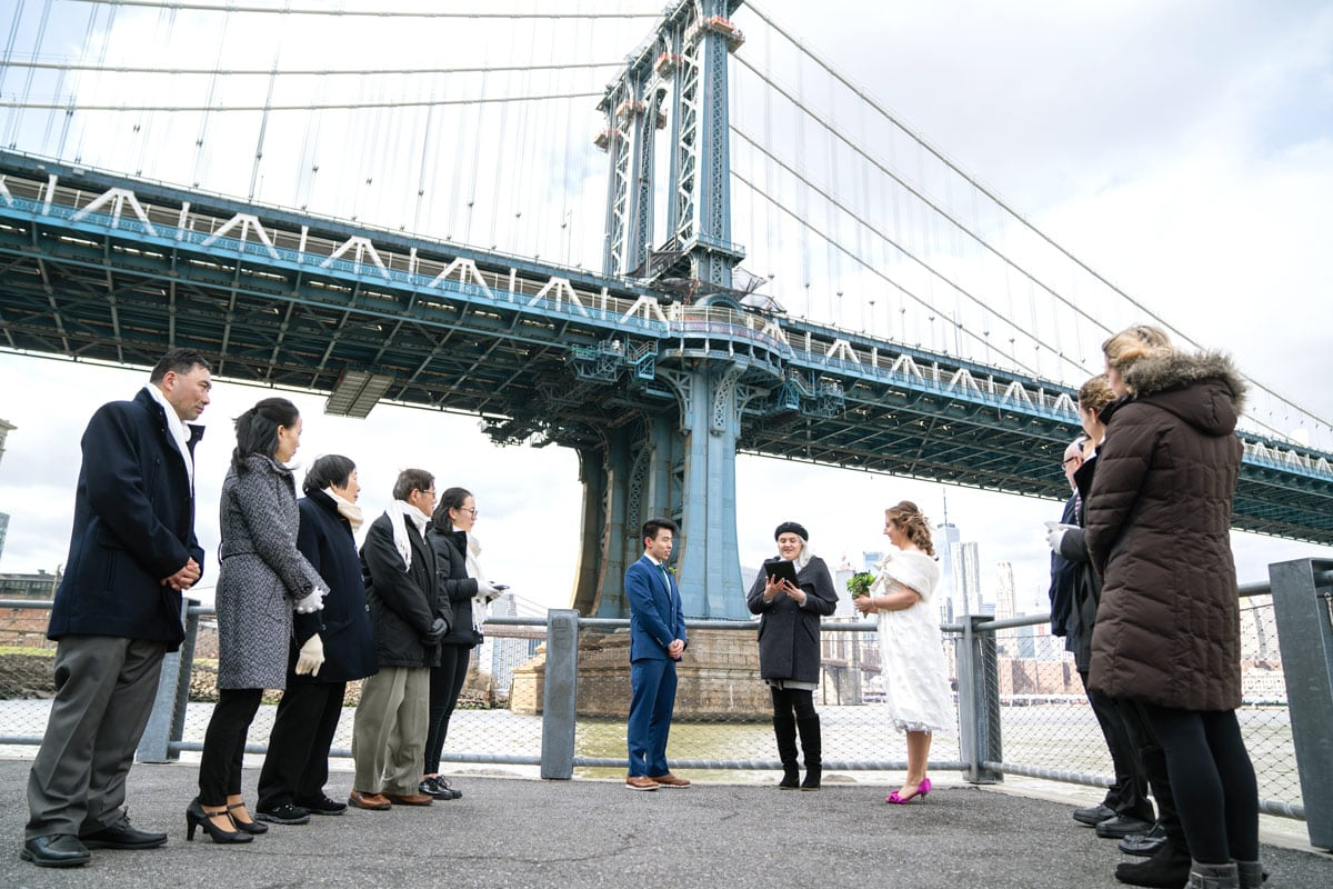 Photo 11 Cathy and Alan Dumbo Brooklyn Wedding in New York City