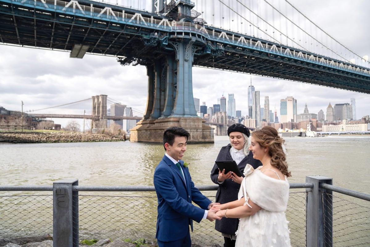 Photo 7 Cathy and Alan Dumbo Brooklyn Wedding in New York City