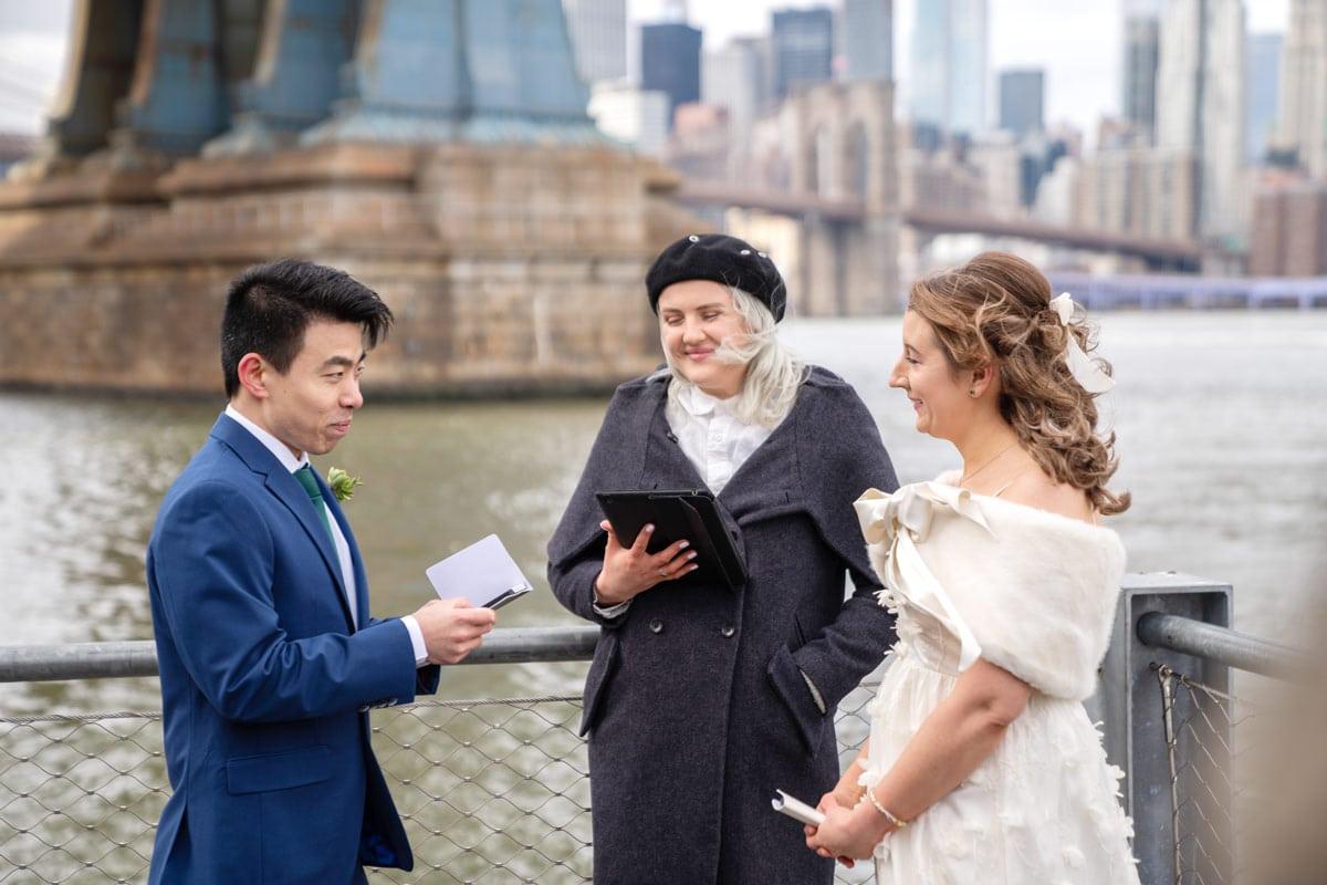Photo 15 Cathy and Alan Dumbo Brooklyn Wedding in New York City