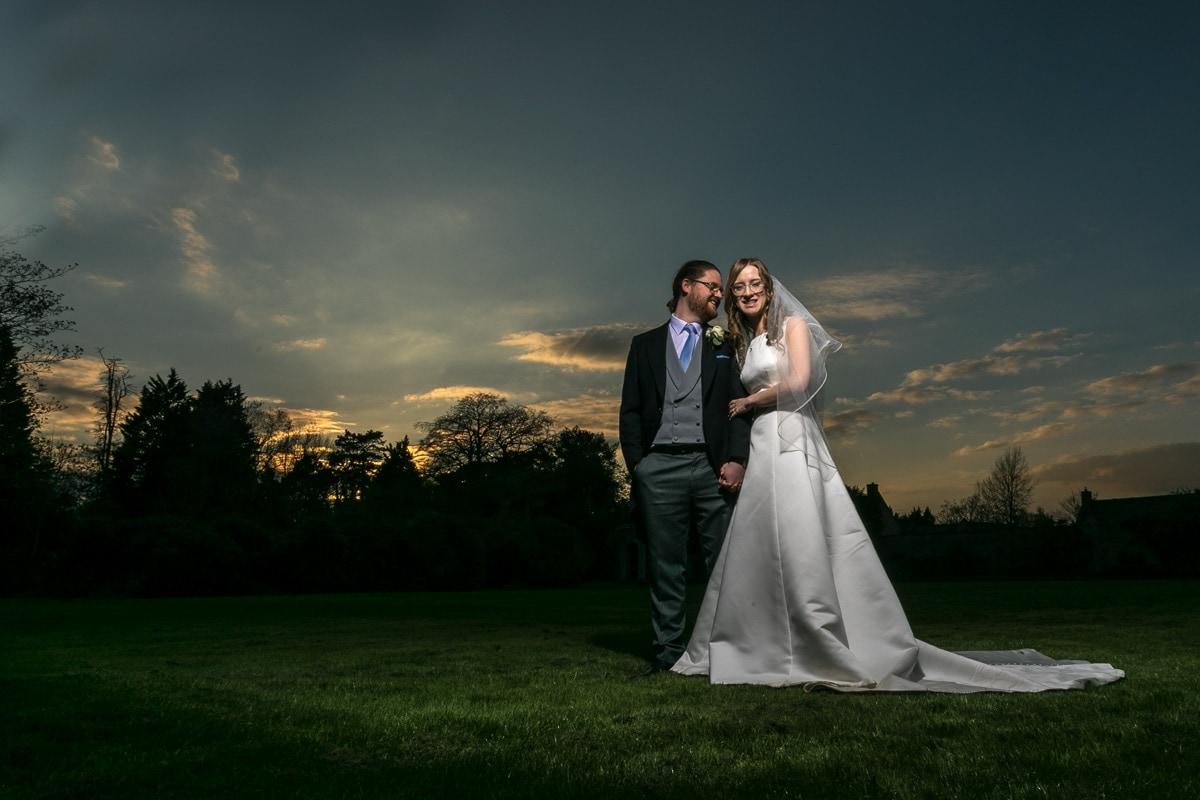 Sunset Wedding Portrait Shendish Manor