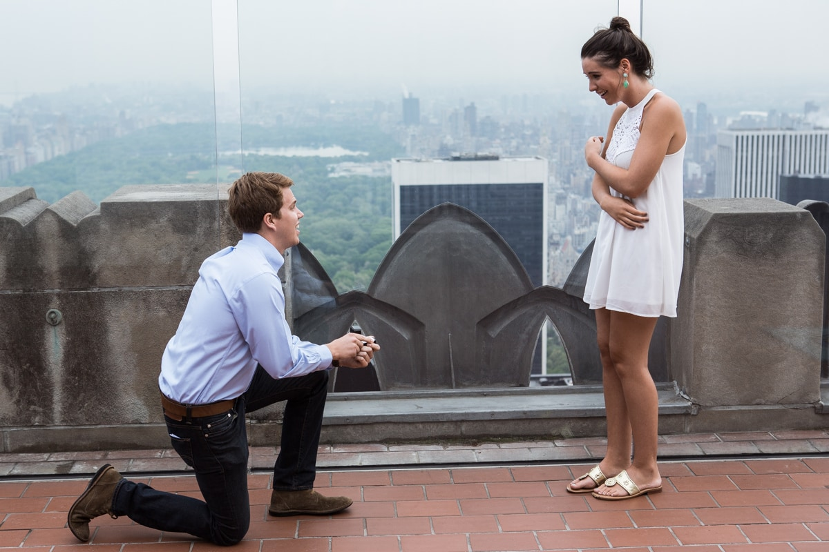 Photo Top of the Rock Marriage Proposal   VladLeto