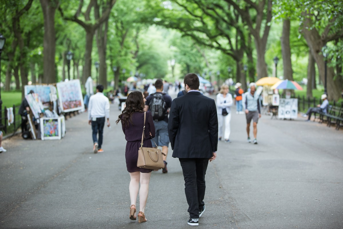 Photo Secret marriage proposal in The Mall, Central Park | VladLeto