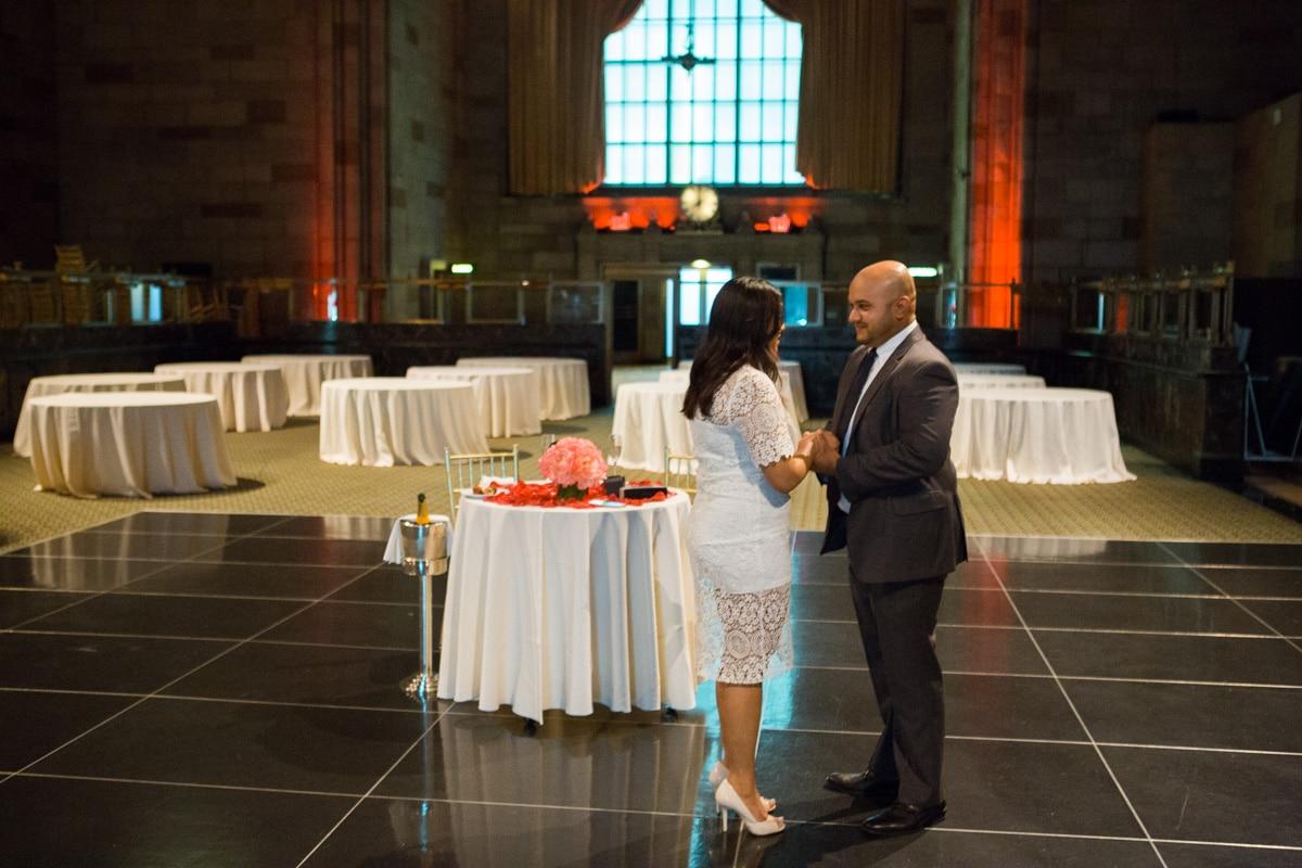 Photo Wedding proposal at Cipriani Grand Central   VladLeto
