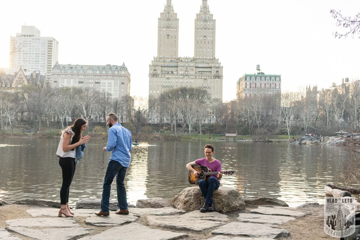 Photo 2 Central Park Marriage Proposal at The Lake Viewing Area | VladLeto