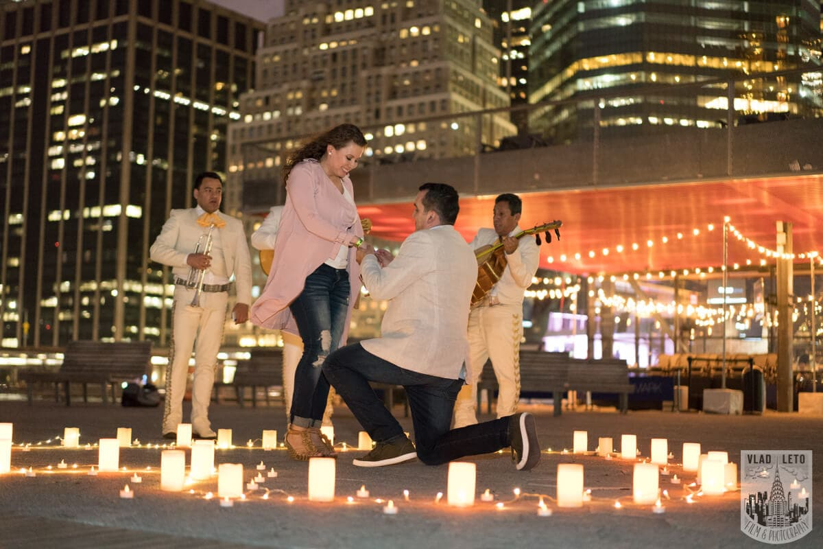 Photo 2 Marriage proposal at Pier 15 with mariachi band, NYC   VladLeto