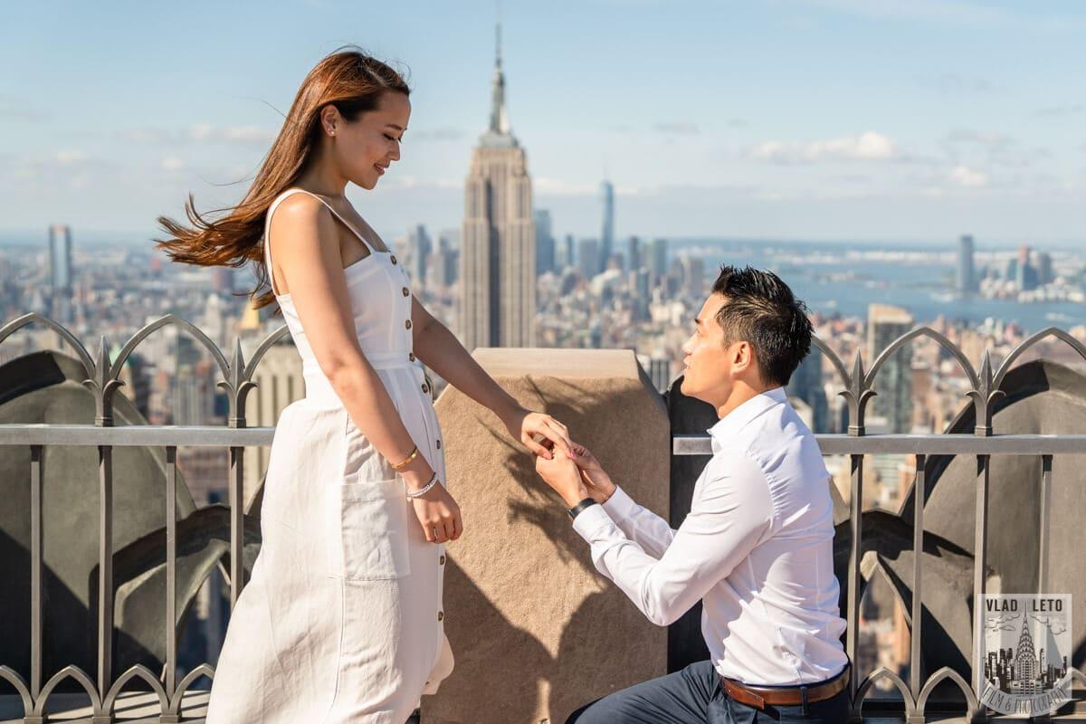 Photo Top Rock Marriage Proposal   VladLeto
